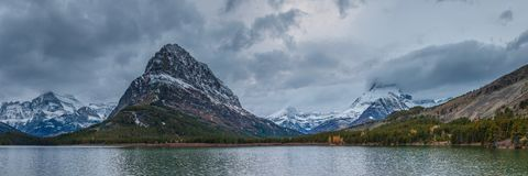 Mount Grinnell in Glacier National Park Stock Photo