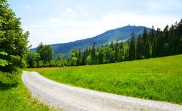 Mount Grosser Arber in National park Bavarian forest, Germany. Stock Photos