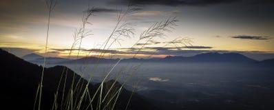 Mount Guntur sunrise Stock Photography