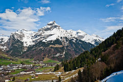 Mount Hahnen of Urner Alps Stock Photography