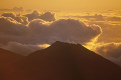 Mount Haleakala Volcano at Sunrise, Maui, Hawaii Royalty Free Stock Photos