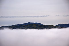 Mount Hamilton in the Clouds Stock Images