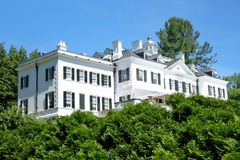 The Mount, a haunted house?. The Mount was the home of famous American writer Edith Wharton. The estate is located in Lenox, in the center of the Berkshires of stock photography