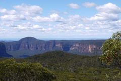 Australia: Blue Mountains landscape - h stock image