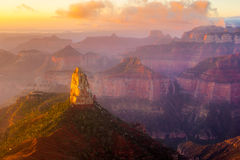 Mount Hayden. Sunrise At Mount Hayden, Grand Canyon National Park, Arizon Stock Photography