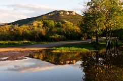 Mount Helena Reflection Stock Photo