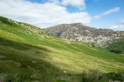 Mount Helvellyn, 950 metres high above Lake Ullswater. stock photos