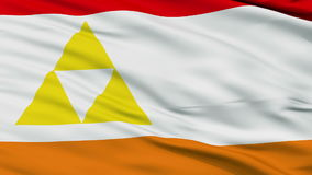 Mount Henadas Micronation Close Up Waving Flag stock footage