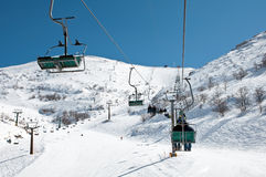Mount Hermon. The highest point in Israel. In winter, the ski resort Royalty Free Stock Photo