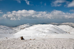 Mount Hermon. The highest point in Israel. In winter, the ski resort Royalty Free Stock Photos