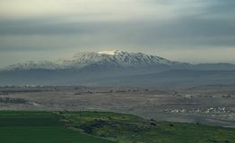 Mount Hermon. As viewed from miles away Stock Image