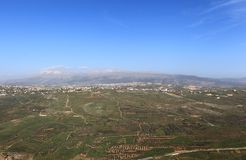 Mount Hermon and Litani Valley (Lebanon) stock photo