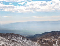 Mount Hermon to the border of Israel and Syria . Royalty Free Stock Images