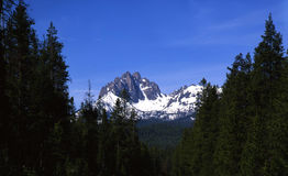 Mount Heyburn. Part of the Sawtooth Mountain Range in Idaho royalty free stock images