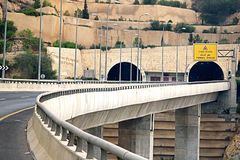 Mount Highway Tunnels in Israel Royalty Free Stock Photo