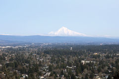 Mount Hood on Columbia River Gorge Royalty Free Stock Images