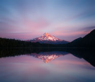 Mount Hood at dusk Stock Photo