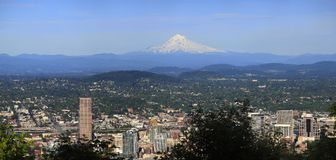 Mount Hood and East Portland OR. Stock Image