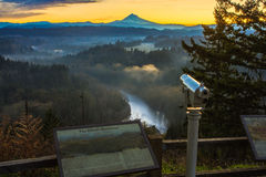 Mount Hood from Jonsrud viewpoint. Royalty Free Stock Photos