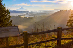 Mount Hood from Jonsrud viewpoint. Stock Photos