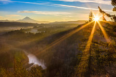 Mount Hood from Jonsrud viewpoint. Royalty Free Stock Image