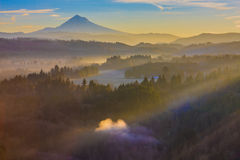 Mount Hood from Jonsrud viewpoint. royalty free stock photo