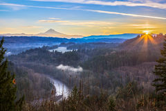 Mount Hood from Jonsrud viewpoint. Stock Photography