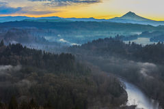 Mount Hood from Jonsrud viewpoint Stock Photo