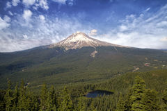 Mount Hood and Mirror Lake. In Oregon Scenic Landscape View royalty free stock photo