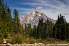 Mount Hood from Mirror Lake Stock Photo