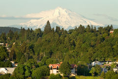 Mount Hood and Oregon City Royalty Free Stock Images