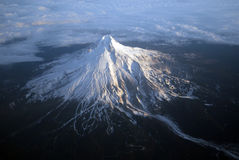 Mount Hood, Oregon. Clouds clear from the Cascade Mountain peak of Mount Hood, east of Portland, Oregon royalty free stock photography