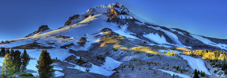 Mount Hood Panoramic. HDR Panoramic of Mount Hood located east of Portland Oregon stock photos