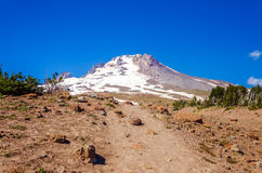 Mount Hood Peak. View of the peak of Mt. Hood, part of the Cascade range in Oregon Stock Photo