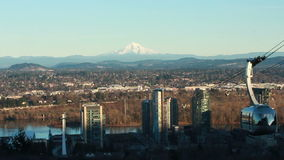 Mount Hood-Portland tram stock video footage