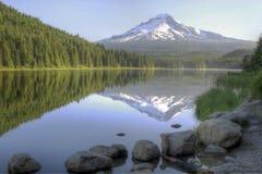 Mount Hood Reflection on Trillium Lake Royalty Free Stock Image