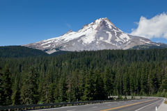 Mount Hood with Road Royalty Free Stock Images