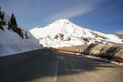 Mount hood from road side stock photos