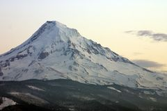 Mount Hood at sunrise. stock photos