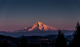 Mount Hood at Sunset Stock Image