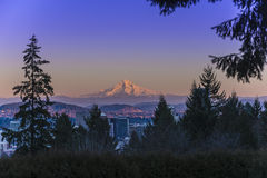 Mount Hood at Sunset Stock Photo