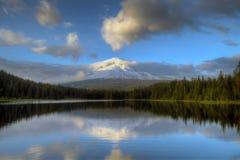 Mount Hood at Trillium Lake royalty free stock image