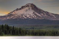 Mount Hood at Trillium Lake Stock Image