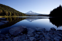 Mount Hood and Trillium Lake. In the Mount Hood National Forest Royalty Free Stock Photography