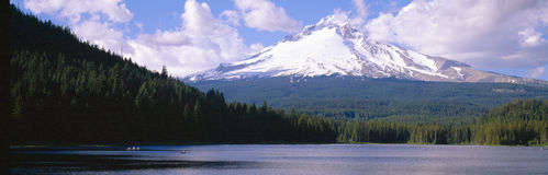 Mount Hood and Trillium Lake Stock Images