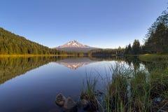 Mount Hood at Trillium Lake stock photo