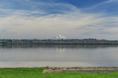 Mount hood and vancouver lake Royalty Free Stock Image