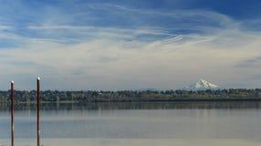 Mount hood and vancouver lake. Mount hood as it looks from vancouver lake vancouver washington stock photography