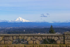 Mount Hood View from Rocky Butte Royalty Free Stock Photos