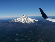 Mount Hood Viewed From an Airplane royalty free stock photo